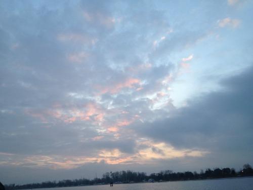 Morgenaufgang Lagune