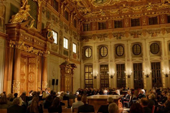 Der Goldene Saal im Rathaus Augsburg (Foto Peter Neidlinder)